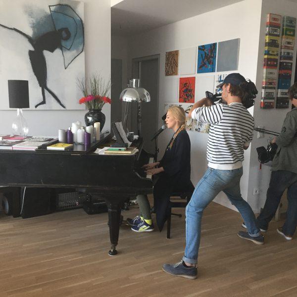 Dreharbeiten mit Alexa Feser