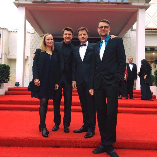 Auf dem Roten Teppich: Melanie Eichler, Torsten Amarell (Redakteur mdr), Falko Korth und Thomas Riedel